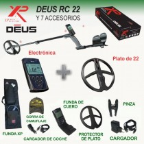 Detector de metales XP Deus RC con plato de 22 cm