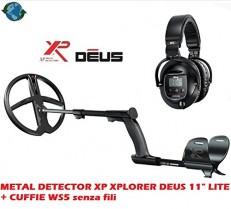 DETECTOR DE METALES XP XPLORER DEUS 11″ LITE + AURICULARES WS5 inalámbrico