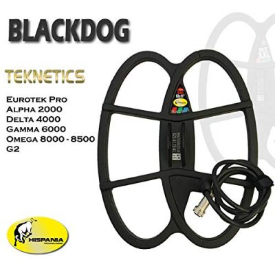 Hispania Technologies Plato Black Dog para Detector de Metales Teknetics