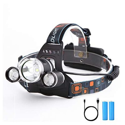 Yizhet Linterna Frontal LED Recargables Luces Super Brillantes